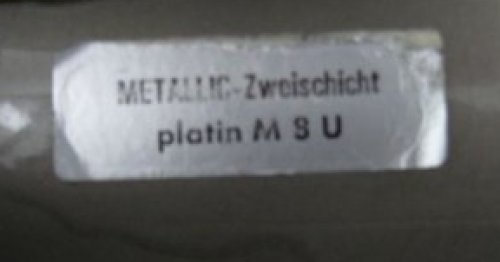Colour-Ident-Sticker useable for Porsche 924+944 or VW- METALLIC Zweischicht