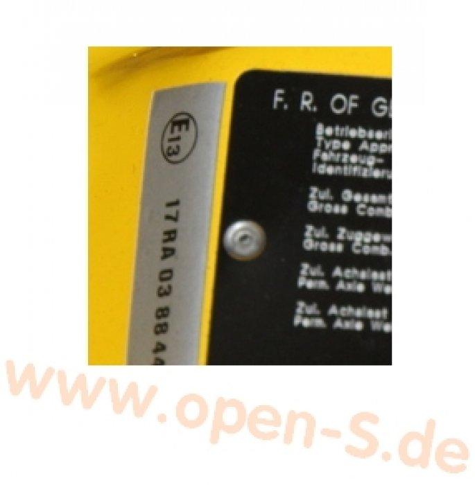 E13-ECE Reglement-Sticker 1989 - 1993