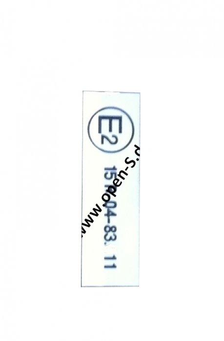 E2 - ECE Reglement-Sticker from 1984 onwards