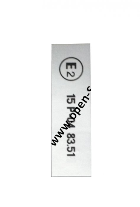 E2 - ECE Reglement-Sticker from My. 1987