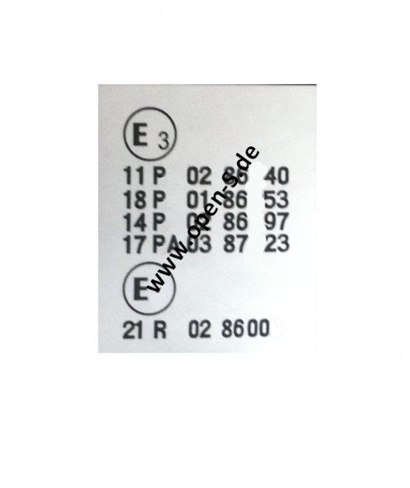E13+E4 - ECE Reglement-Kleber ab 1987