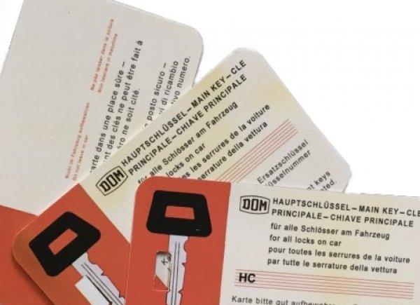 Master key card