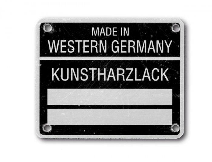 Paint marking aluminium until 1980 - individually engraved