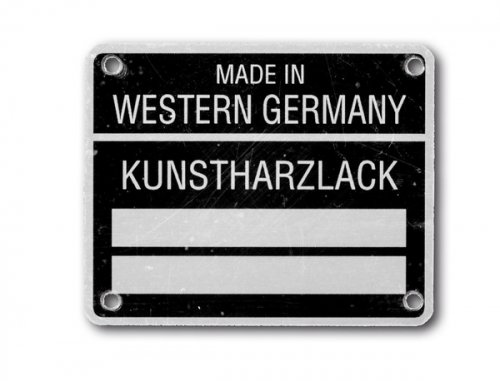 Lack-Kennzeichnung Aluminium bis 1980 - individuell graviert