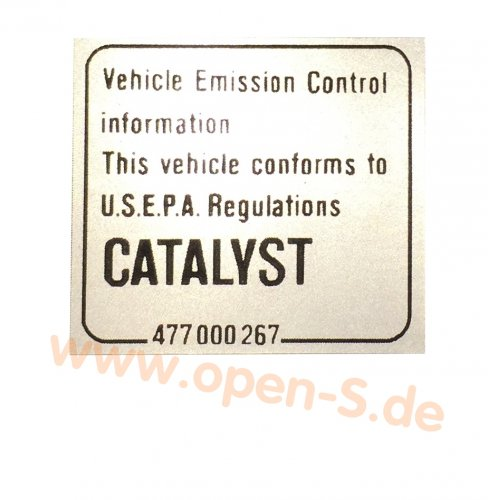 Catalytic Converter decal (1976 – 2005)
