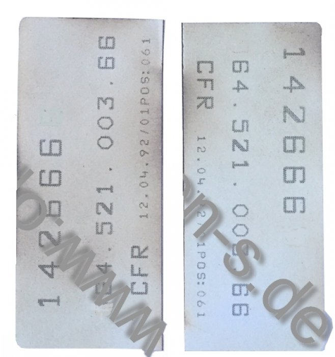 RECARO Sitze-Kleber individuell (Paar).