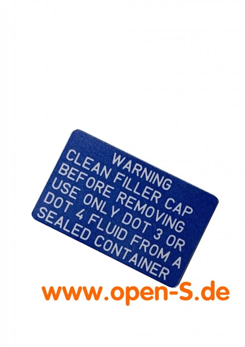 Brake Fluid Sticker