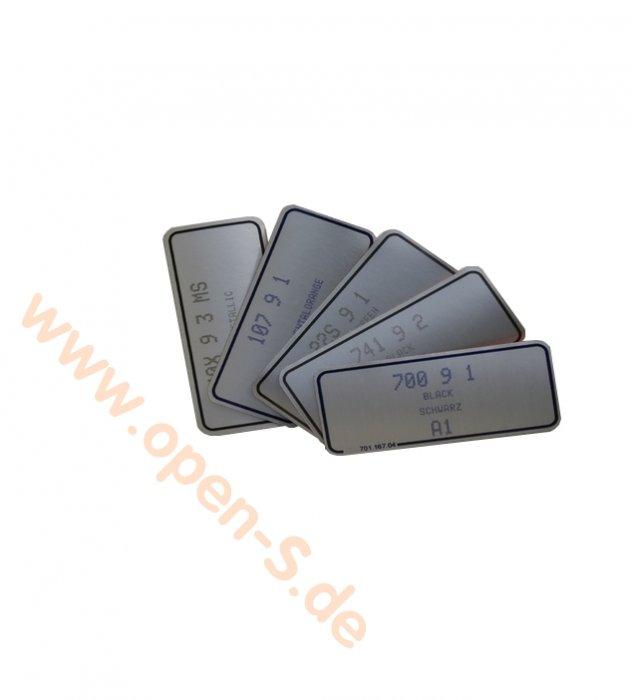 Étiquette Couleur - aluminium