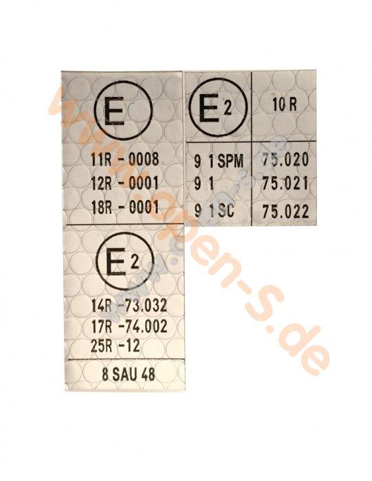 ECE Reglement-Sticker before Modelyear 1978