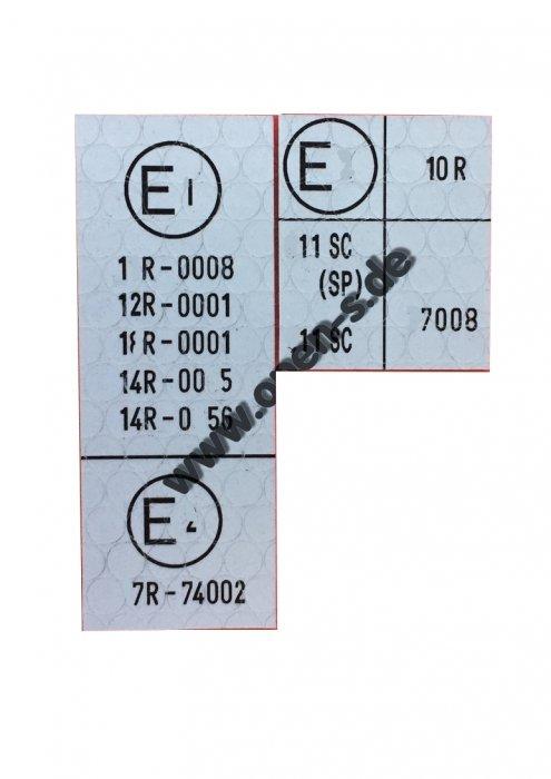 ECE Reglement-Sticker from Modelyear 1978