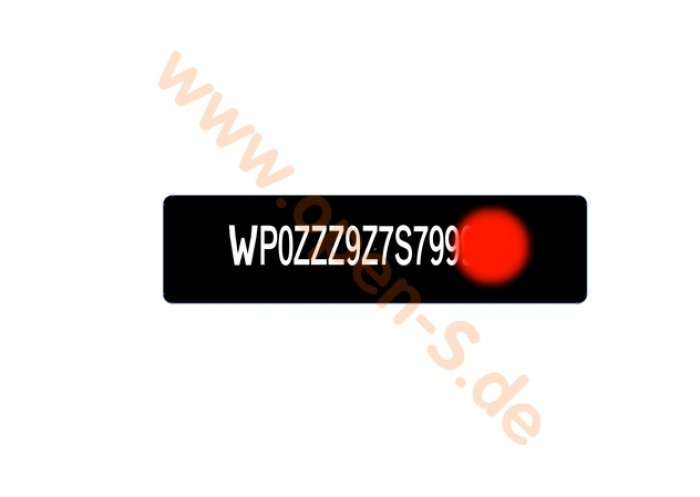 Windscreen VIN tag -  Special composite foil-plate (RoW-Versions) 1998-2012
