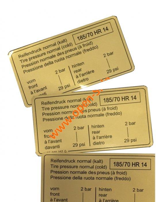 Reifendruck Kleber - frühe Versionen