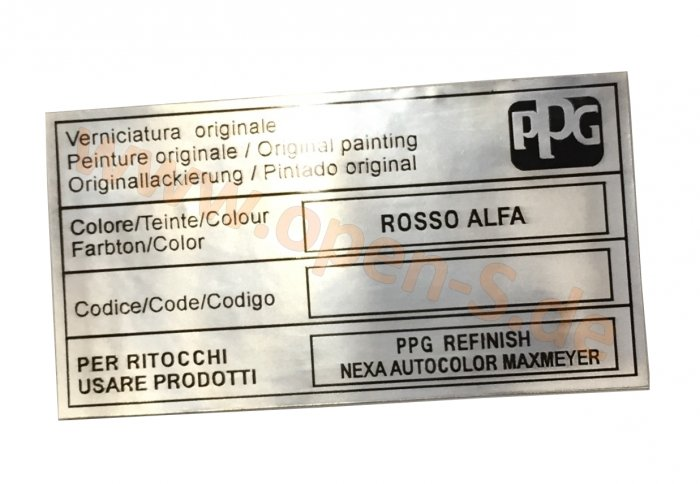 Alfa Romeo Farb- Kleber -  Aluminium