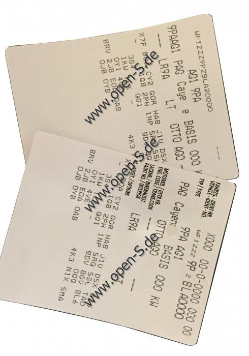 Service-Book-Sticker - Expertise,  SUV´s; Cay.; Boxs.