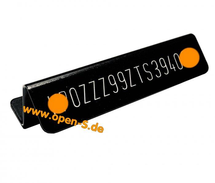 Windschutzscheiben FIN Plakette -  Aluminium  - 993
