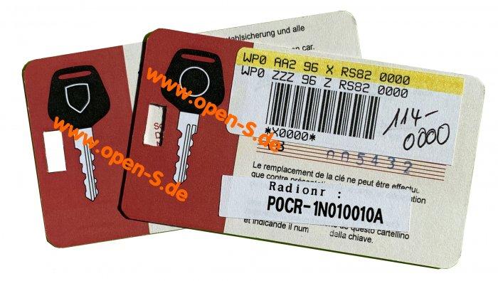 Master key card - individualized  968