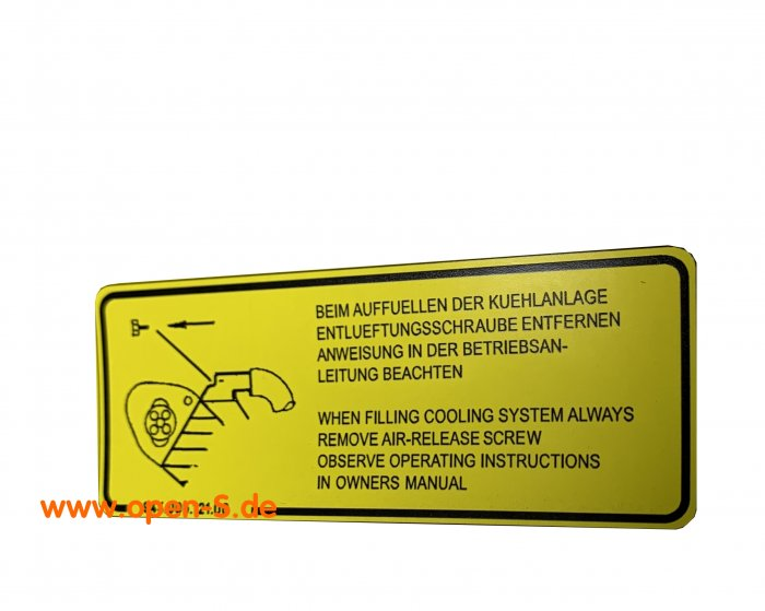 De-aeration adhesive label Version 944 and 968