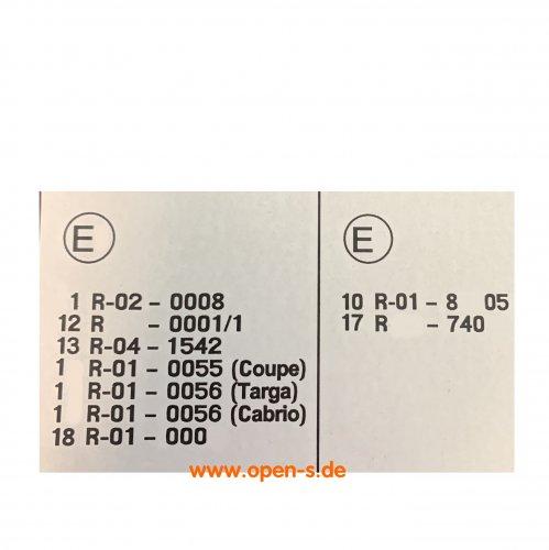 ECE regulation sticker before Mj.1984