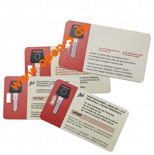 Master key card - individualized  928