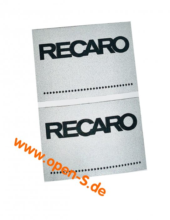 RECARO seat angle adhesive individual (pair).